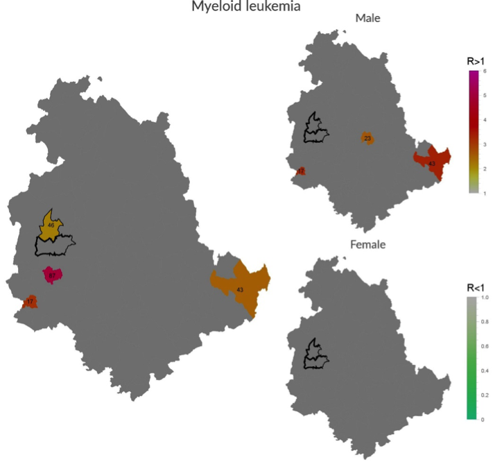 Incidence of Myeloid leukemia in Umbria Region